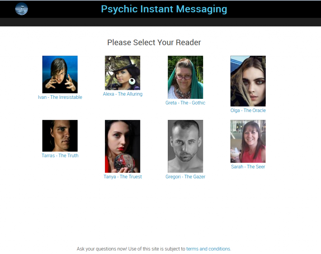 Chat - Psychic Instant MessagingPsychic Instant Messaging